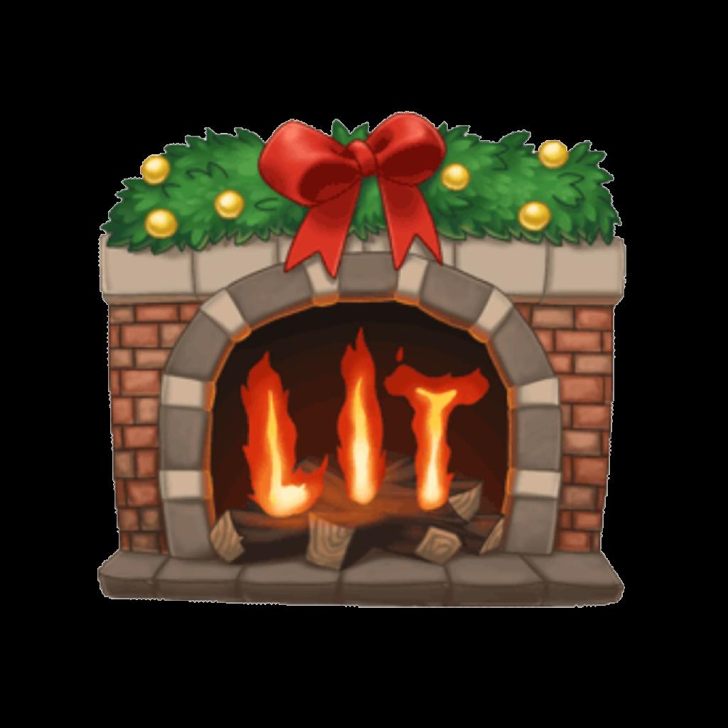 Arimoji fire lit redandgreen. Fireplace clipart stocking drawing