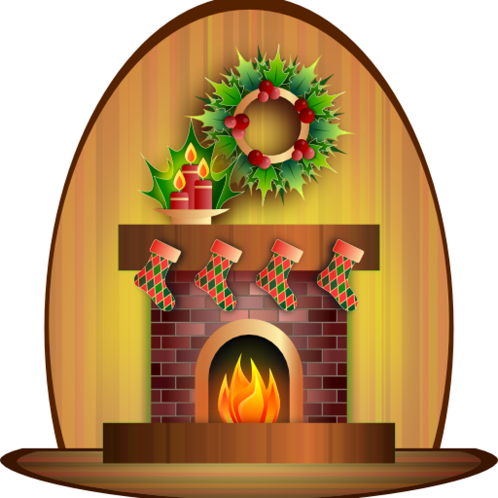 Crown hatenylo com christmas. Fireplace clipart stone fireplace