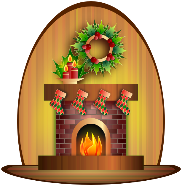 Christmas holiday scenes download. Fireplace clipart transparent