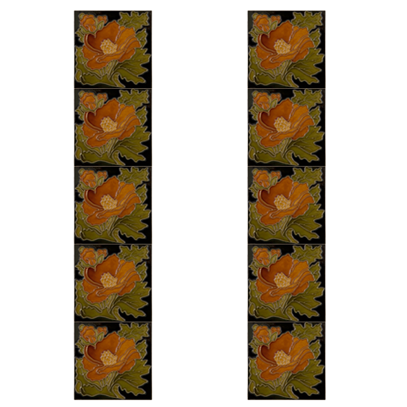 Fireplace clipart victorian fireplace. Carron tubelined tiles lgc