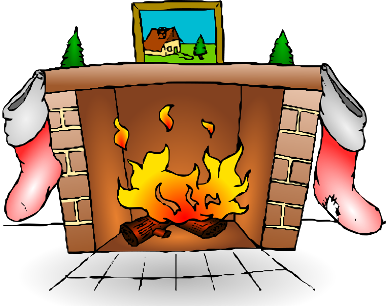 Fireplace clipart warm fire. Free winter cliparts download