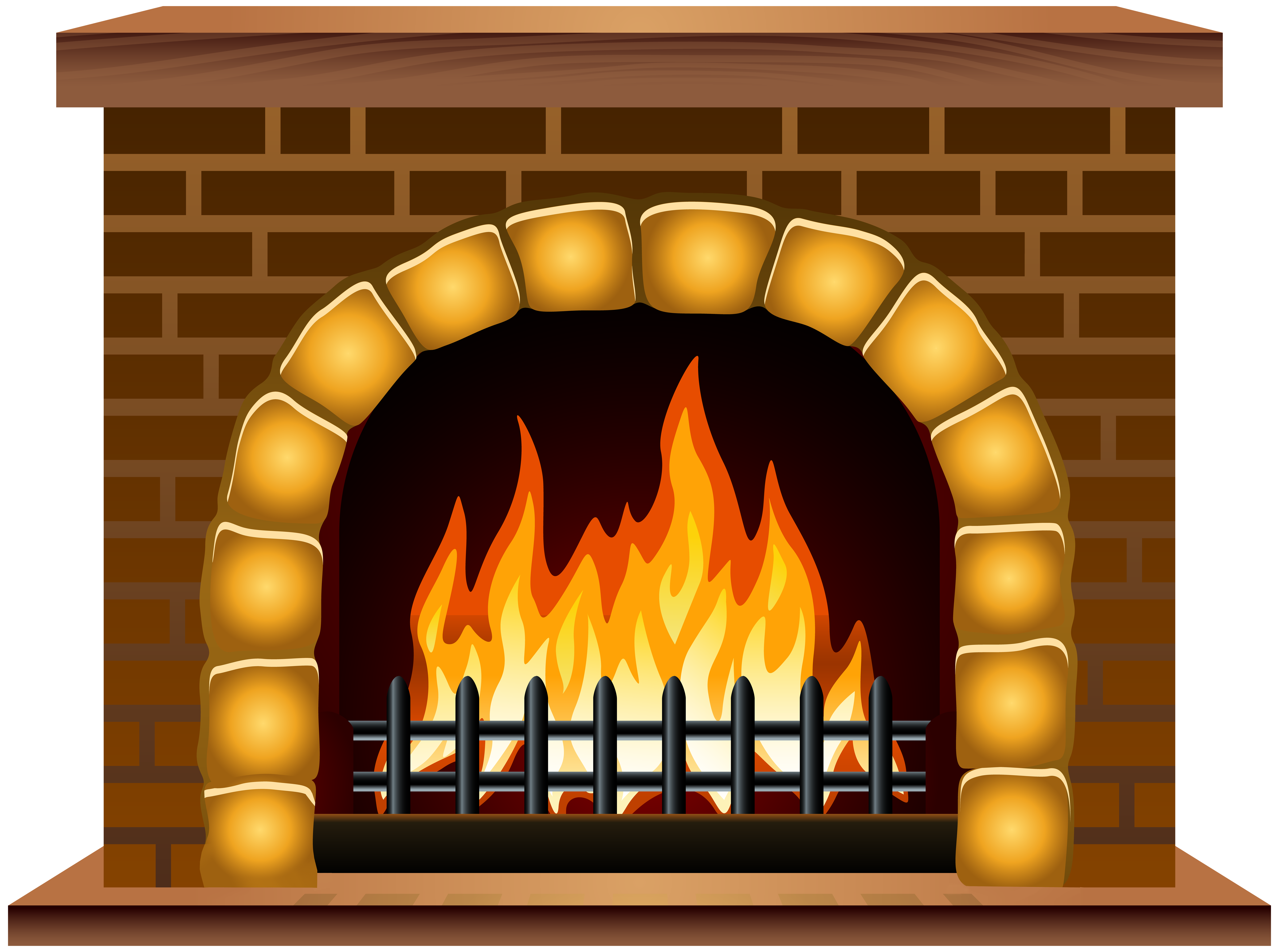 Fireplace clipart. Png clip art image