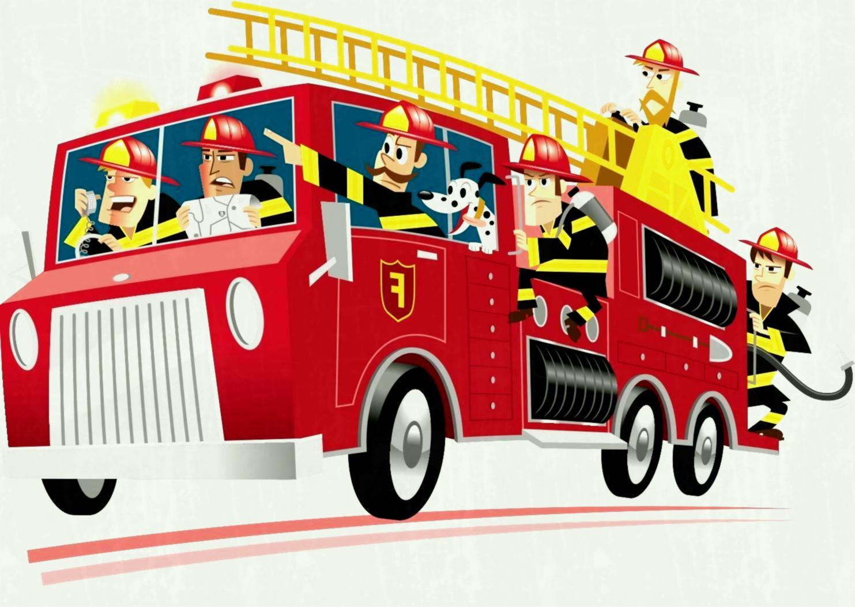 B hd cartoon fire. Firetruck clipart