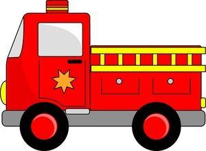 Fire engine image cartoon. Firetruck clipart