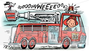 Firetruck clipart. Party backgrounds