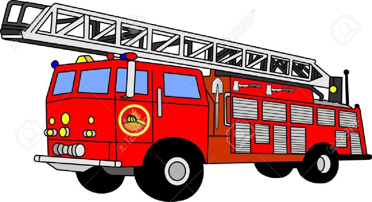 Luxury of fire truck. Firetruck clipart