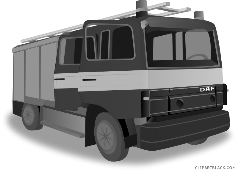 Fire truck transportation free. Firetruck clipart black and white