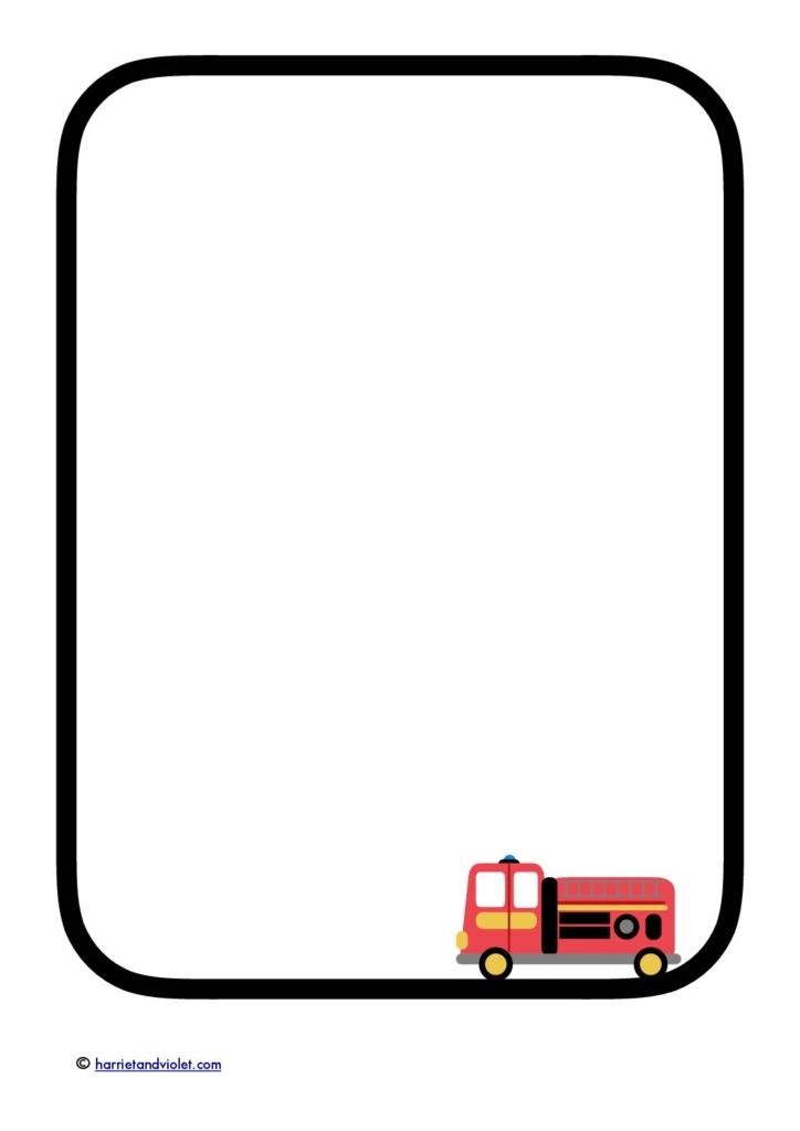 Firetruck clipart border. Fire free download best