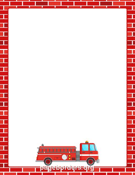 Firetruck clipart border. Fire truck clip art