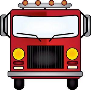 Firetruck clipart cartoon. Clip art images stock