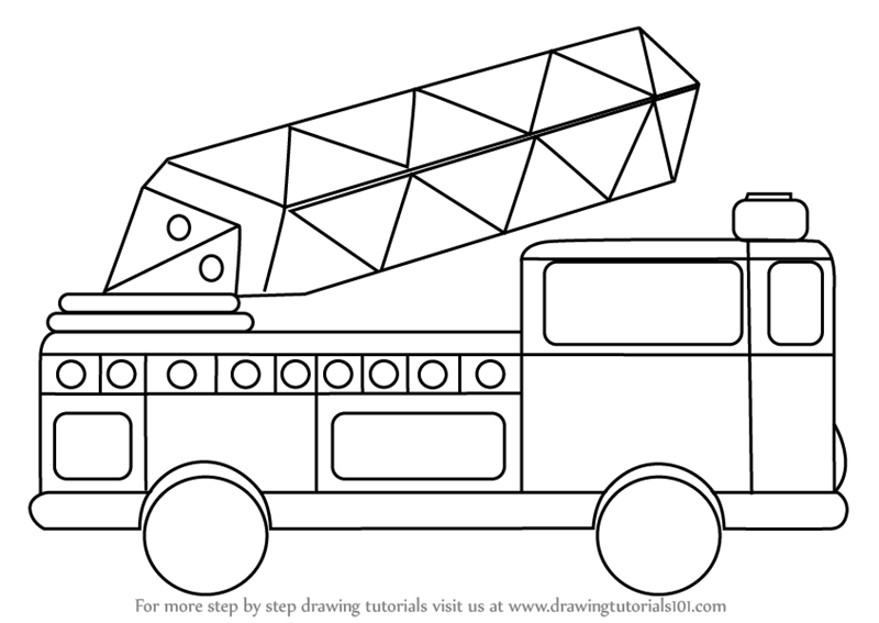 Firetruck clipart draw. Book black and white