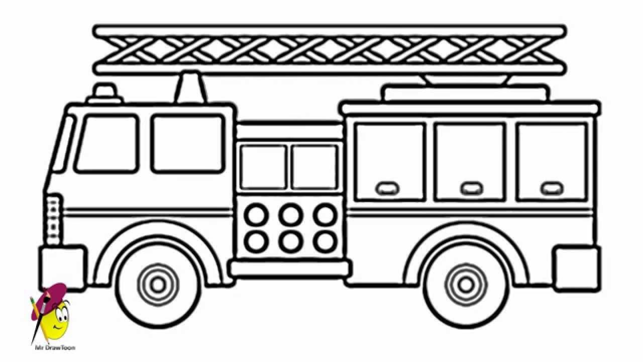 Firetruck clipart draw. Fire truck how to