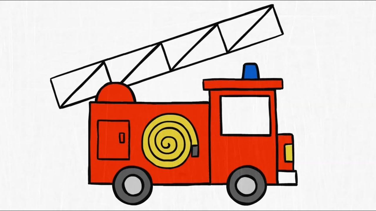 Firetruck clipart draw. How to a fire