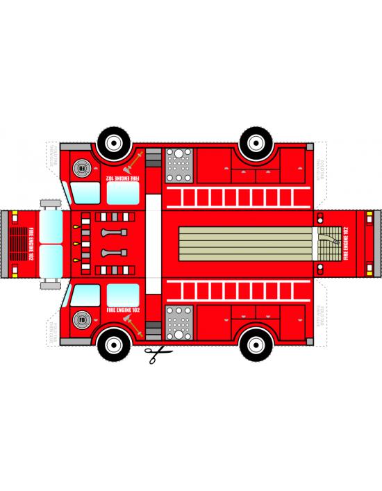 Firetruck clipart fire marshal. Foldable truck