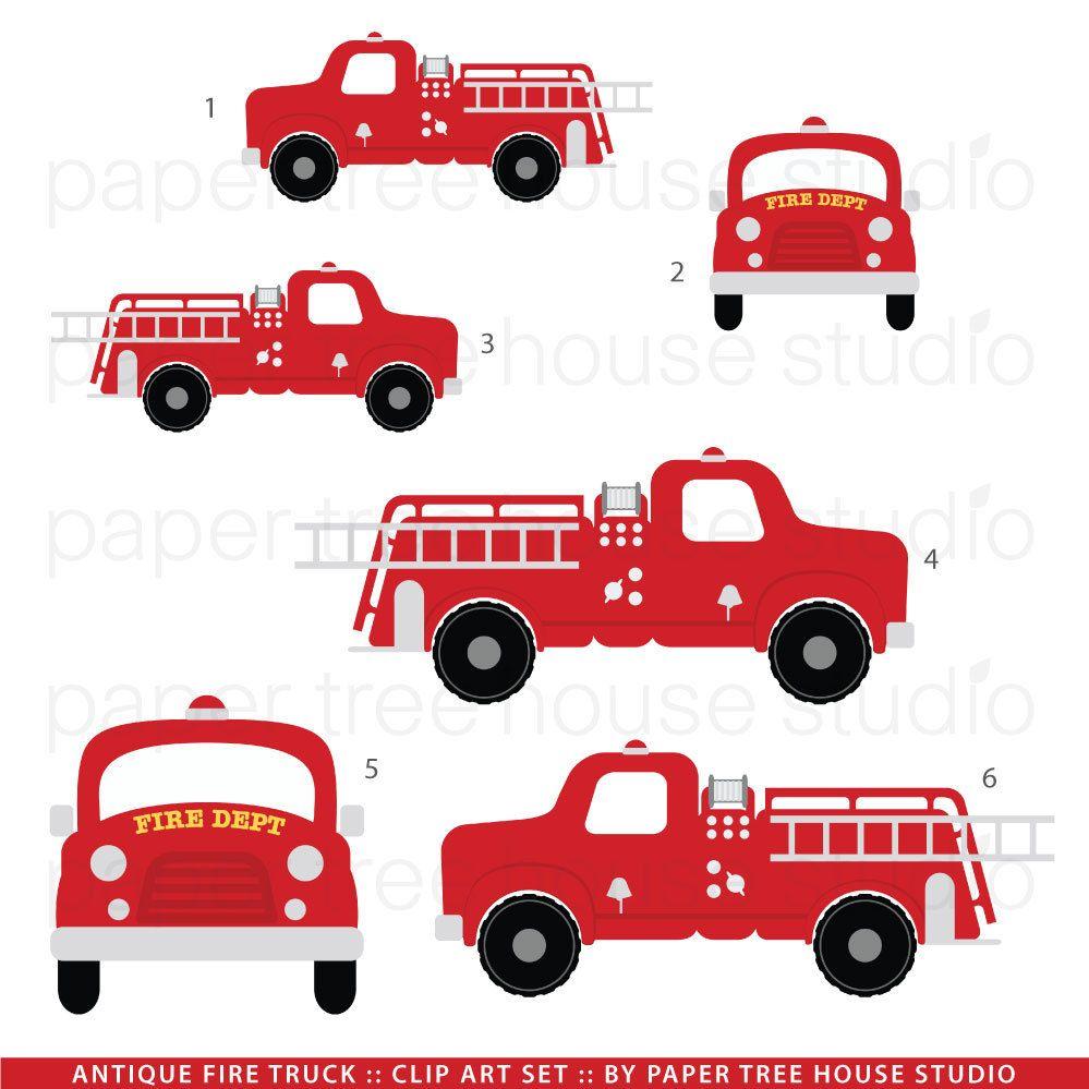 Firetruck clipart fire station. Truck clip art vintage