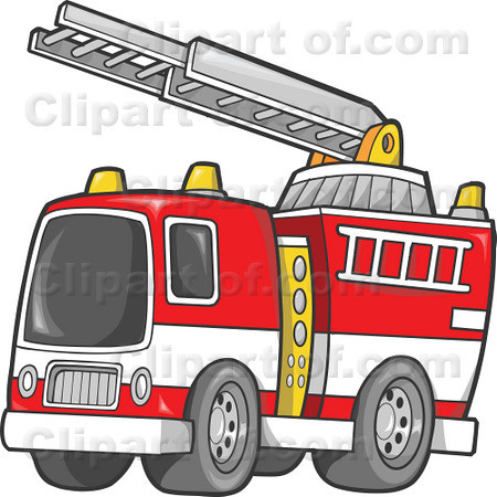 Firetruck clipart ladder. Fire truck and illustration