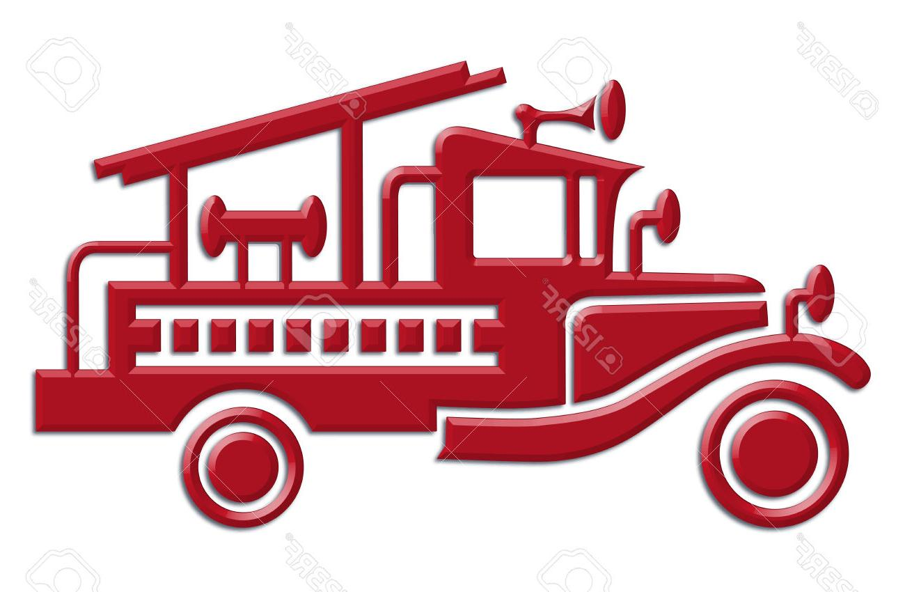 Firetruck clipart old. Vintage fire truck free