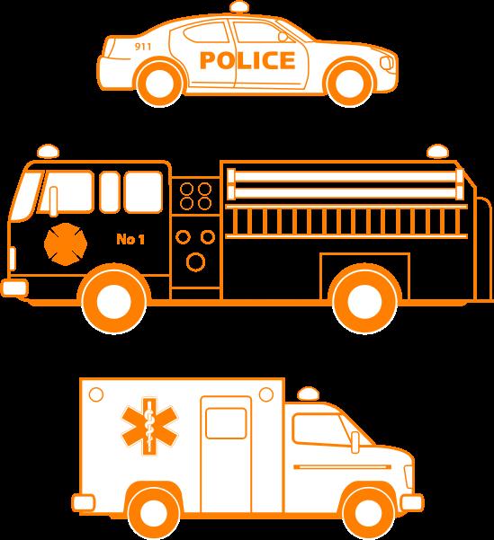 Fire ema medium image. Firetruck clipart police car