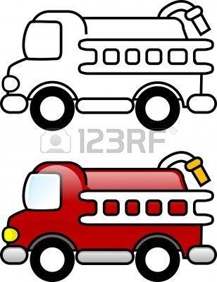 Fire truck clip art. Firetruck clipart printable