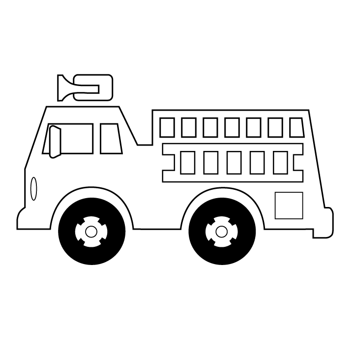 Transportation coloring pages page. Firetruck clipart printable
