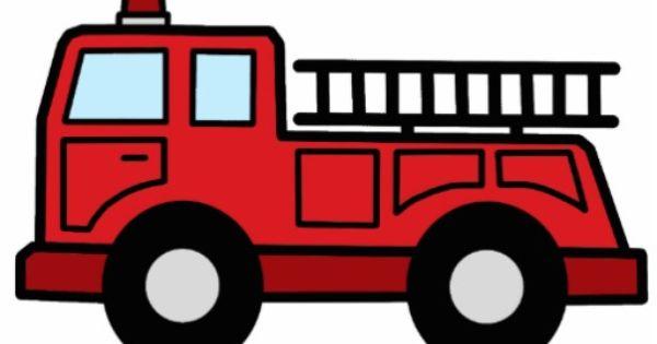 Free cartoon firetrucks cliparts. Firetruck clipart simple