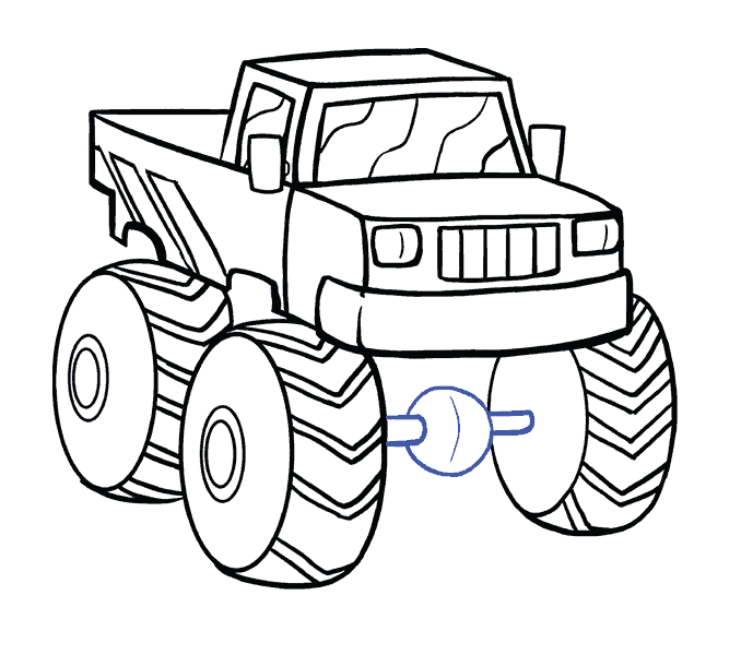 Flames clipart blaze and the monster machines. Fire truck drawing easy
