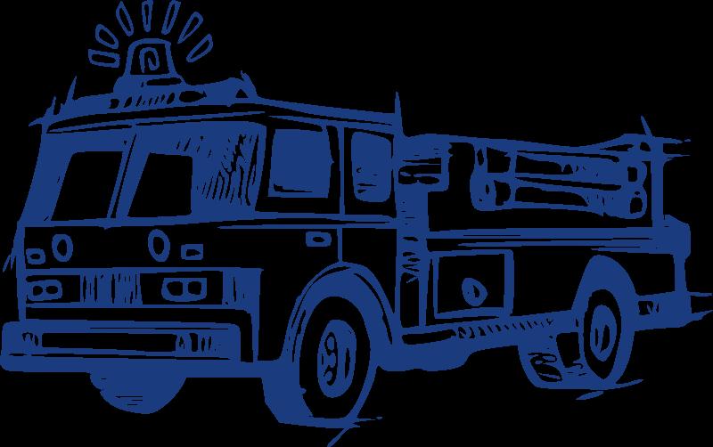 Fire engine truck department. Firetruck clipart siren