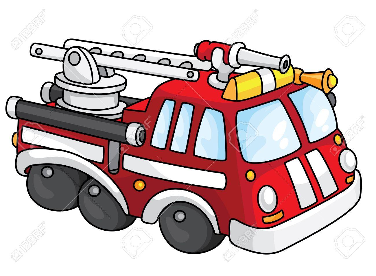 Firetruck clipart siren. Vintage fire truck free