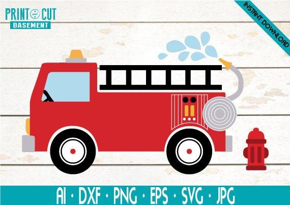 Fire truck for kids. Firetruck clipart svg