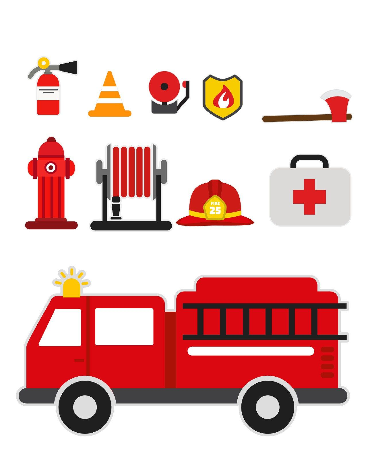 Firetruck clipart svg. Fireman fire truck firefighter