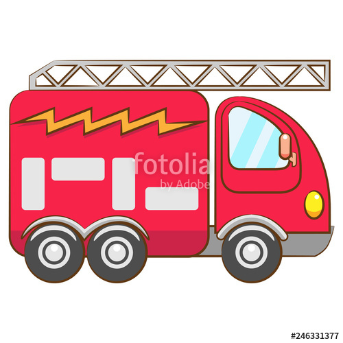 Firetruck clipart vector. Design stock image and