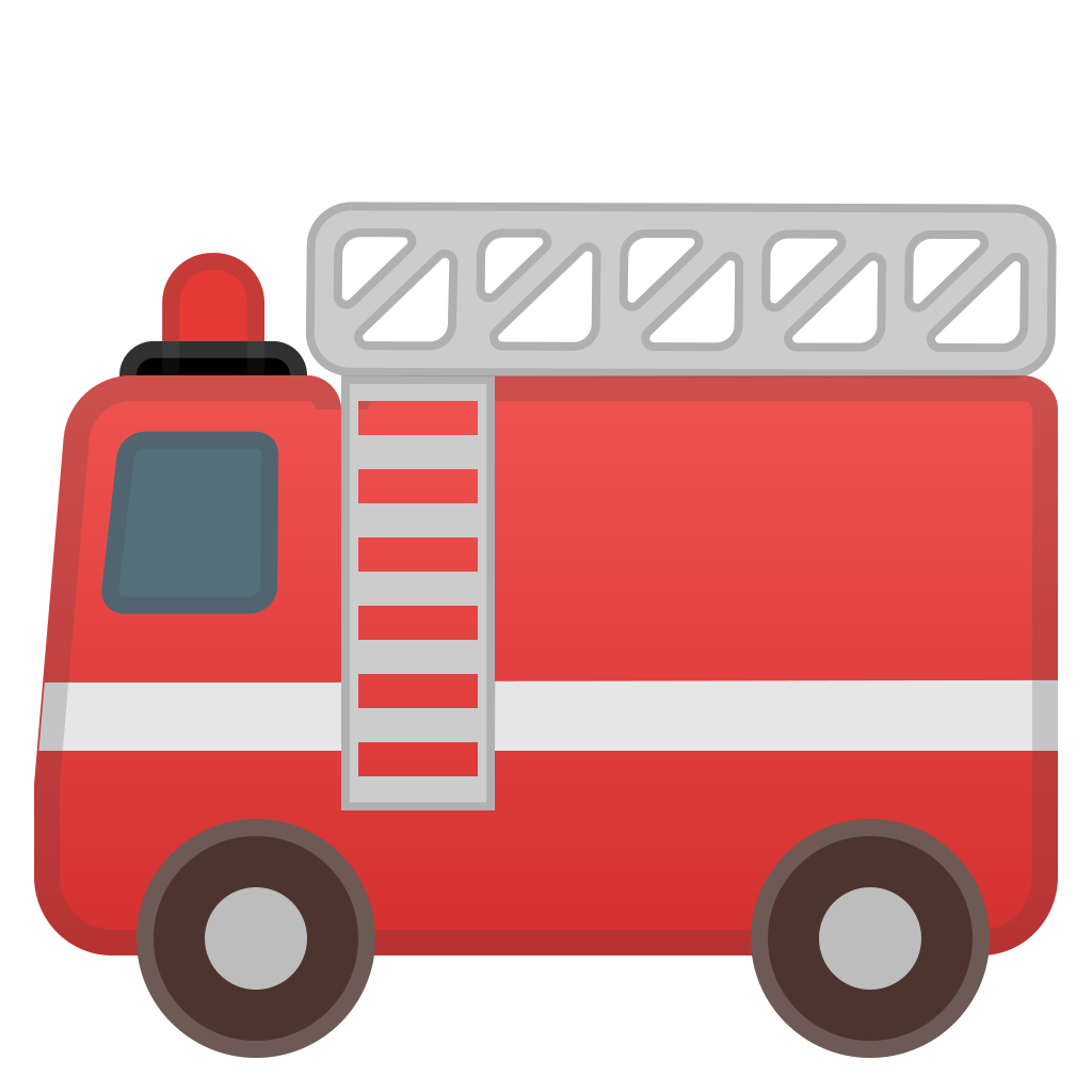 Firetruck clipart vintage. Fire engine icon noto