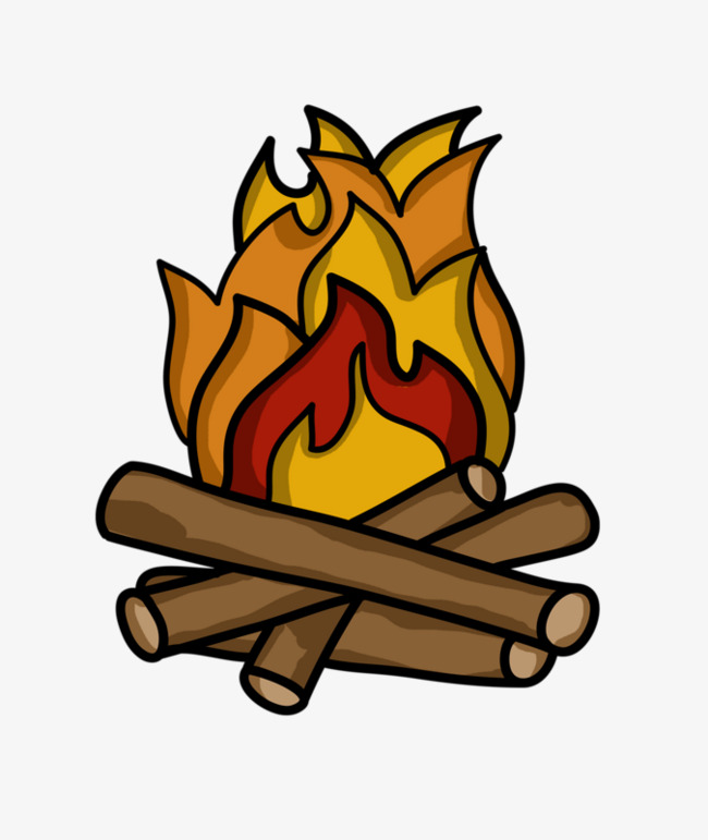 Firewood clipart. Pile of hand painted