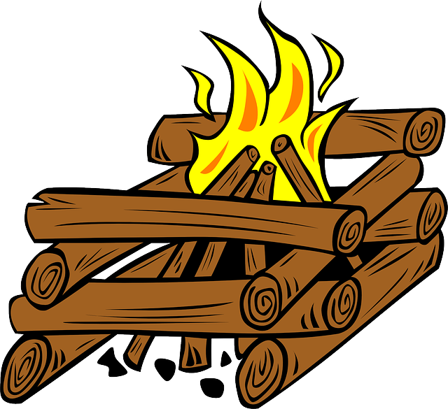 Campfire clipart cartoon. Wood fire firewood panda