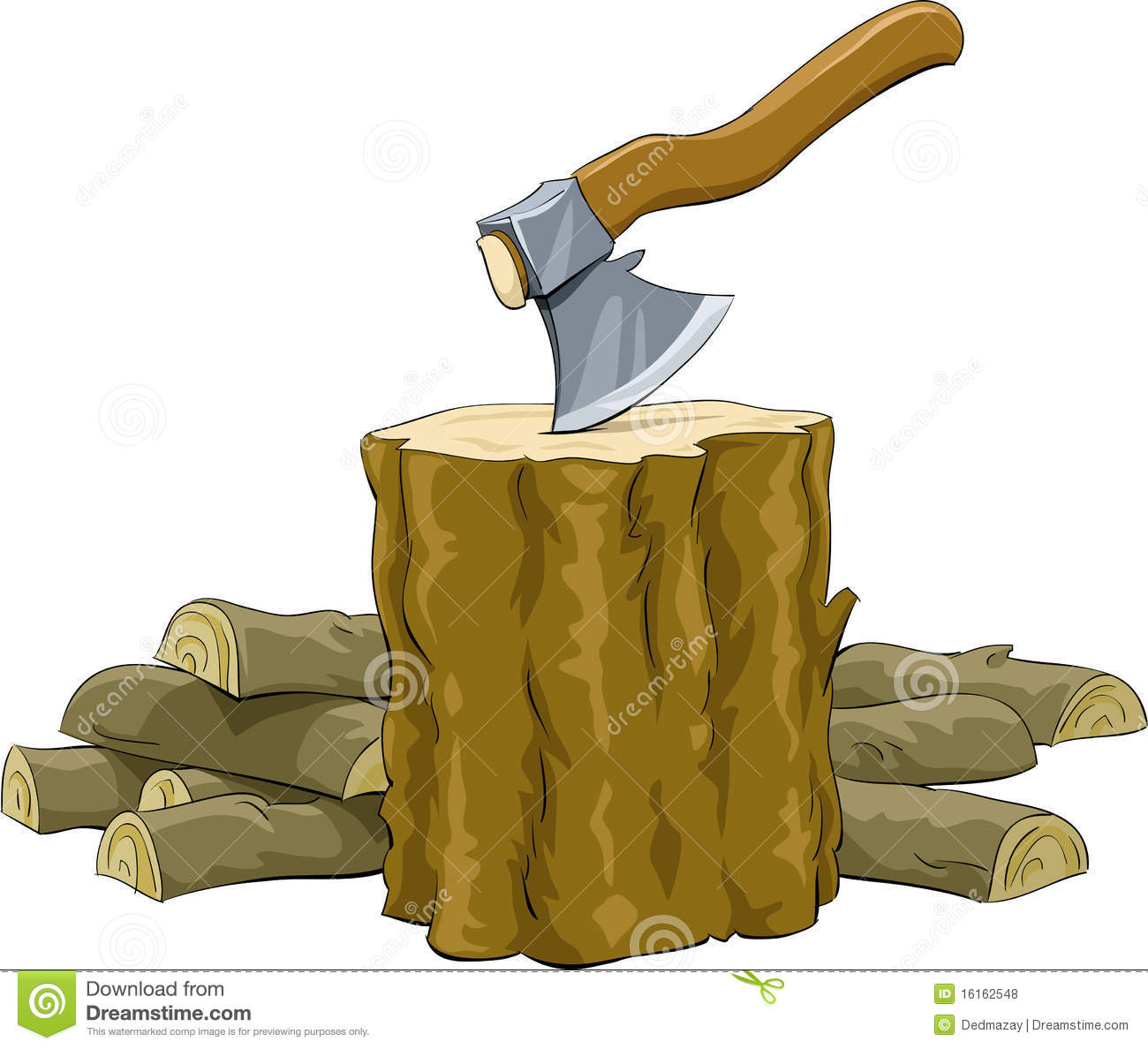 Brennolz lighter clipground stump. Firewood clipart