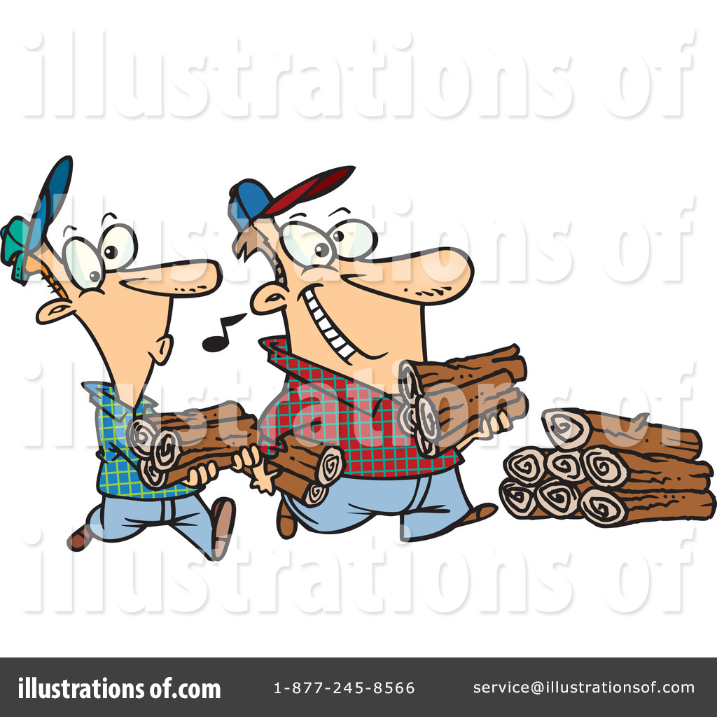 Illustration by toonaday royaltyfree. Firewood clipart