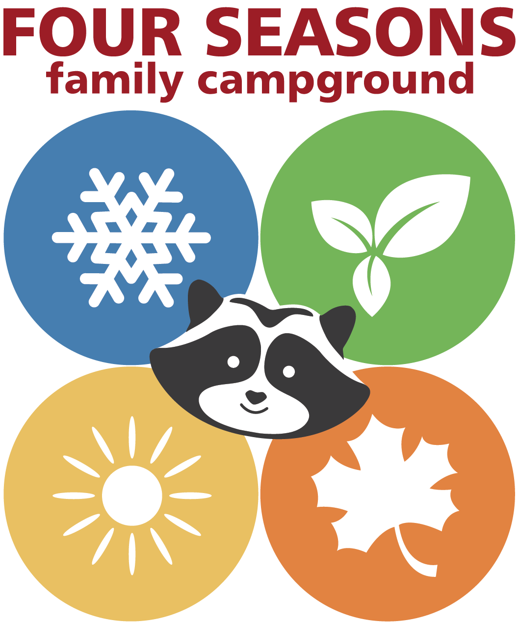 Four seasons family campground. Firewood clipart bonfire night