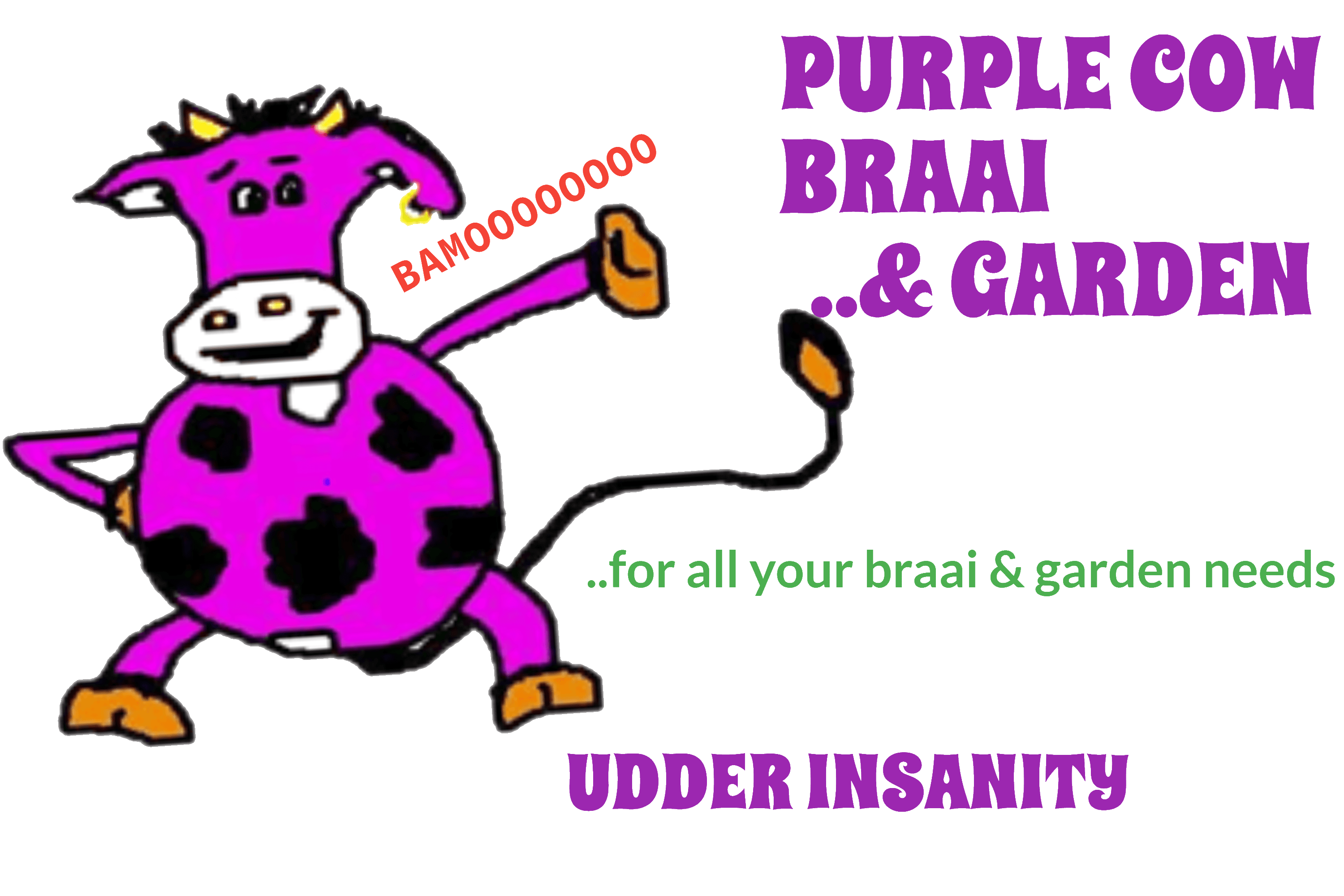 Purple cow wood buy. Grilling clipart braai south african