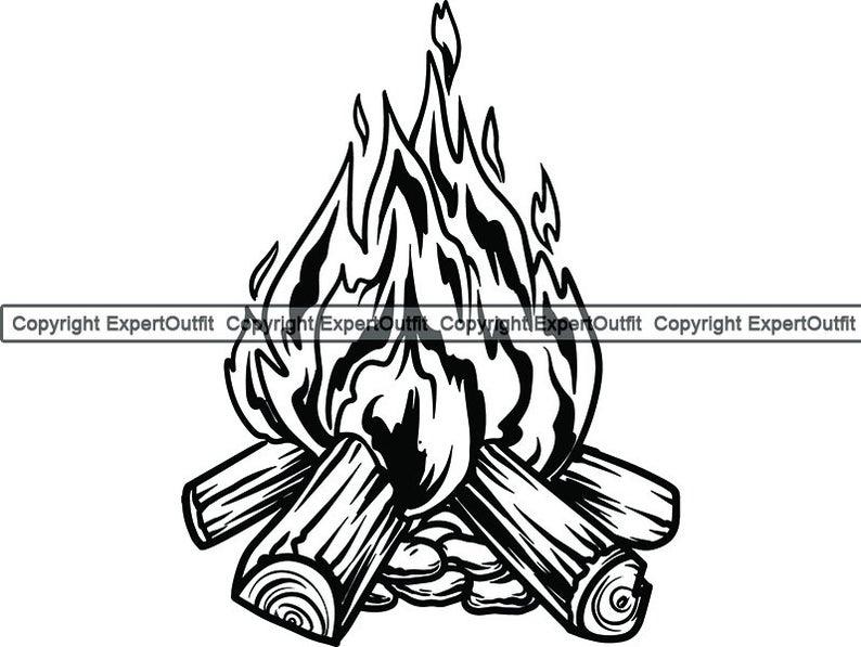 Camp fire flame bonfire. Firewood clipart campfire wood