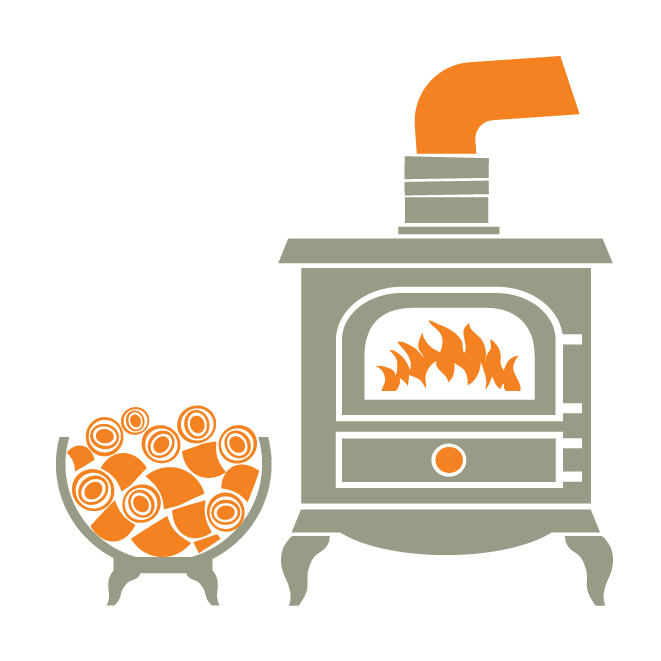 Stove and installation arthur. Firewood clipart chimney fire