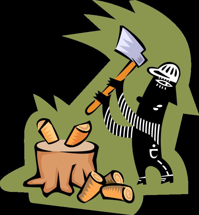 lumberjack clipart chop wood
