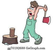 Lumberjack clipart wood chopper. Chopping clip art royalty