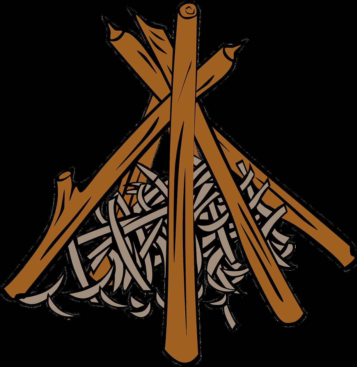 Firewood clipart fireplace wood. Campfire logs clip art