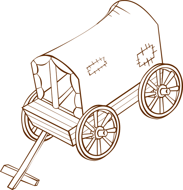 Firewood clipart fogata. Pioneer wood cart free