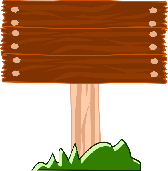 Wood street sign clip. Pathway clipart direction