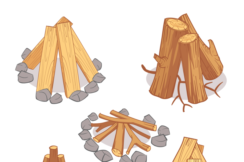 Firewood clipart single wood log. Stacks and hardwood wooden