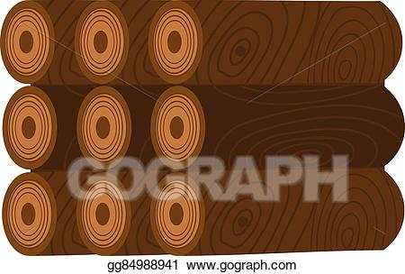 Eps vector stack of. Firewood clipart single wood log