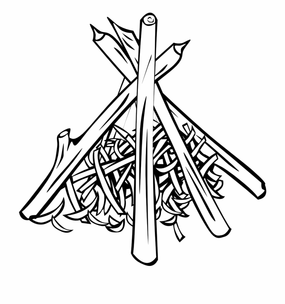Campfire cooking flame heat. Firewood clipart wood pile