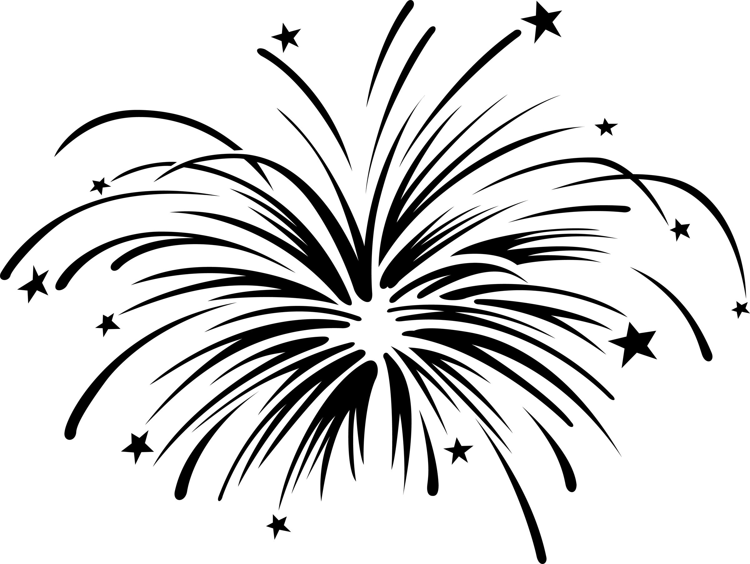 Firework clipart. Fireworks with animation panda