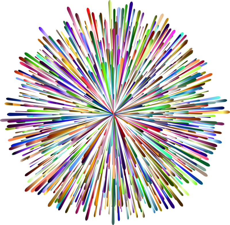Firework clipart black background. Fireworks free images pictures